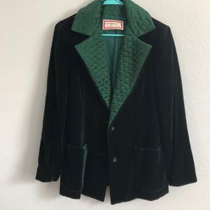 Oscar de la Renta vintage something! velvet coat